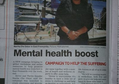 First free publicity in a newspaper prior to the launch of Strive and Thrive